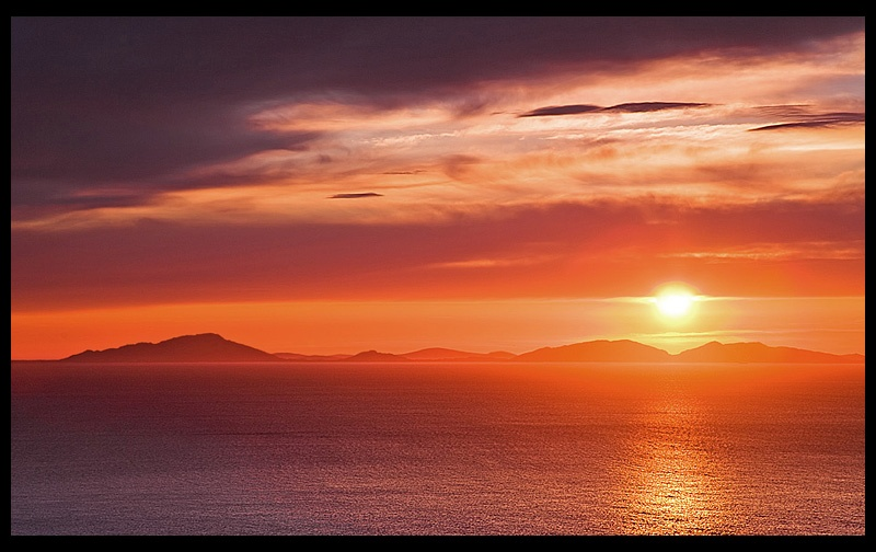 Sunset Over North Uist - The Islands of Scotland