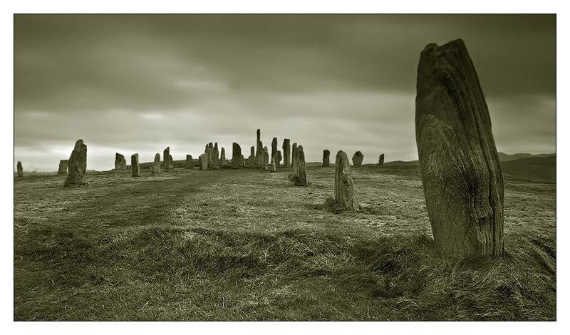 Calanais Stones - Monochrome Images