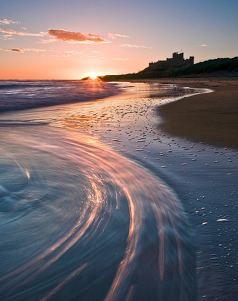 Retreating Waters - Bamburgh - Inland and Coastal England