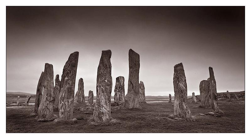 Calanais Stones - Isle of Lewis - Monochrome Images