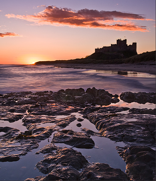 Bamburgh on the rock - Inland and Coastal England