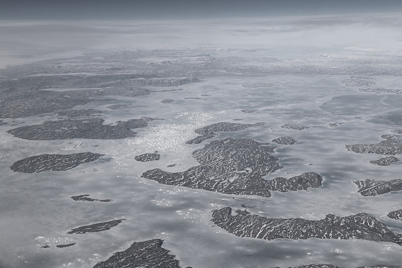 Ice and landscape, Greenland - Airspace