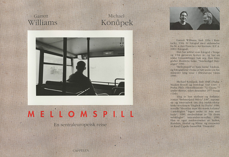 Cover, MELLOMSPILL (Between the Acts) - From the book Mellomspill (Between the Acts) on central Europe 1990