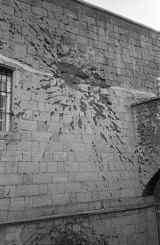 War damage, Citadella, Budapest, Hungary - From the book Mellomspill (Between the Acts) on central Europe 1990
