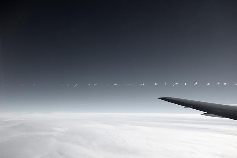 Contrail, Atlantic Ocean - Airspace