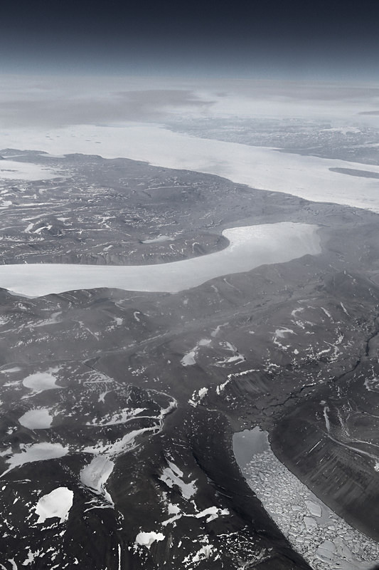 Terminal Moraine with Cirques, Greenland - Airspace