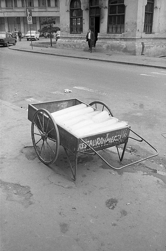Ice wagon, Bucarest, Romania - From the book Mellomspill (Between the Acts) on central Europe 1990