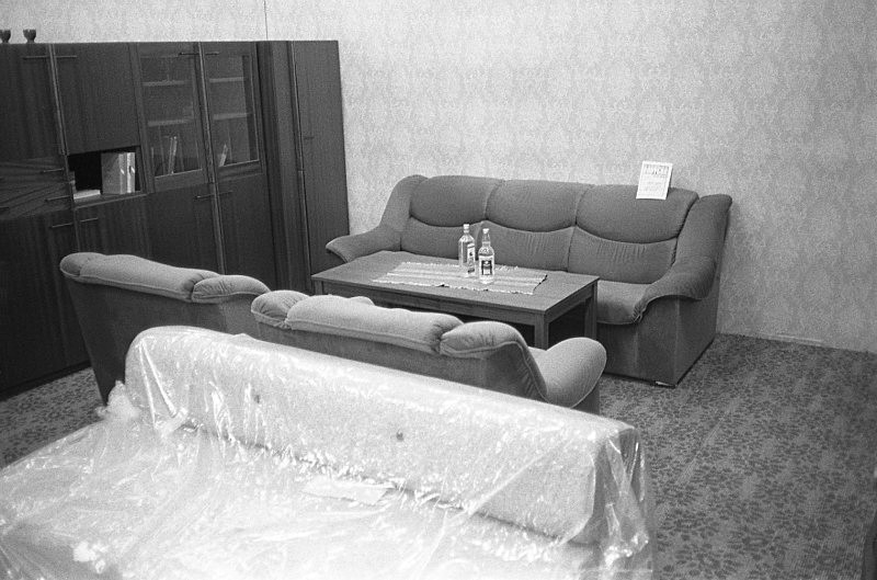 Furniture display, Slovakia - From the book Mellomspill (Between the Acts) on central Europe 1990