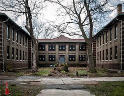 Ellis Island Immigrant Hospital | Blackened Windows
