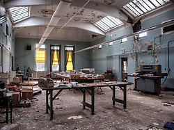 Overbrook Asylum (Cedar Grove, NJ)   Workshop Area