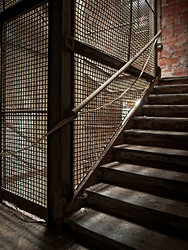 Ellis Island Immigrant Hospital | Caged Stairs