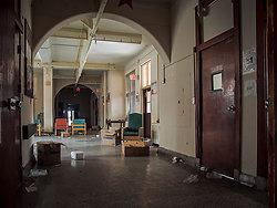 Overbrook Asylum (Cedar Grove, NJ)   Cluttered Hallway