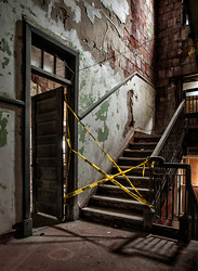 Ellis Island Immigrant Hospital | Taped Off Stairwell