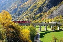 Bernina Express - Brusio Circular Viaduct
