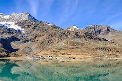 Mountain Lake View - Bernina Express