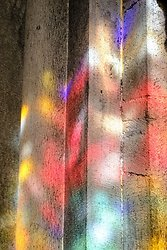 Stained Glass Reflection - Chur Cathedral