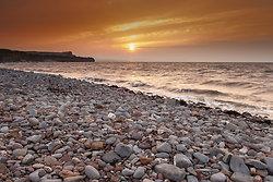 Kilve Beach Sunset from the Beach