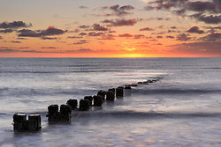 Groynes at Sunrise