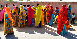 Women at Polling station Chatra Sagar