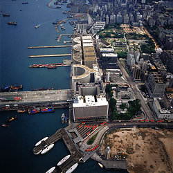KM-191 Harbour City, Kowloon Wharf & Marine Police HQ from air - 1984