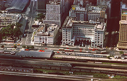 KM-204 Kowloon train station, the YMCA & the Peninsula Hotel - 1974