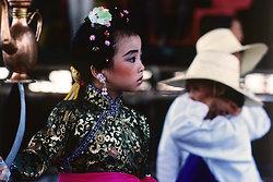 KM-228 Girl in Cheung Chau Bun Festival procession - 1978