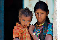 Young mother  child Chatra Sagar