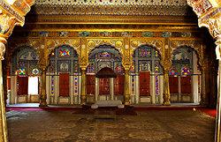A reception room in the Mehranghar Fort   Jodhpur