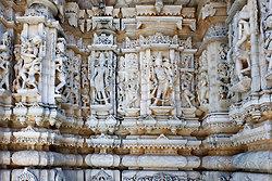 Wall of carvings - Nagda Temple near Udaipur 2