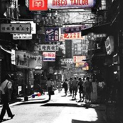 Hong Kong Black & White with colour portfolio