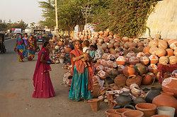 Pot sellers - Jaipur, Rajasthan
