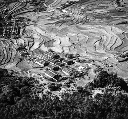 KMBW-9 New Territories village from air - 1975