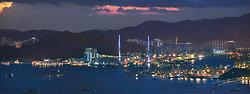 KMPAN-87 Tsing Yi Bridge from the Peak - 2014
