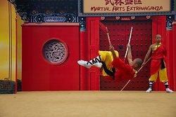 KM-387 Shaolin monks Kung Fu show at Po Lin Monastery