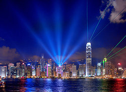 KM-291M Hong Kong Island with lasers