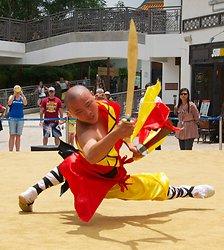 KM-383 Shaolin monks Kung Fu show at Po Lin Monastery