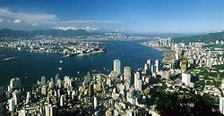KM-37 Hong Kong harbour -1982 panorama