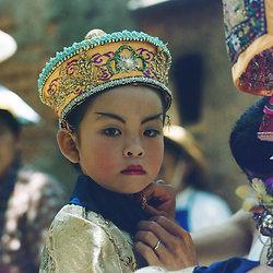 KM-225 Cheung Chau procession Girl - 1978