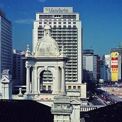 KM-88 Mandarin Hotel from old Hong Kong Club roof - 1975