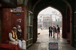 Old men near the Mosque, Old Delhi