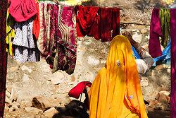 Hanging clothes, Ramathra Village, Rajasthan