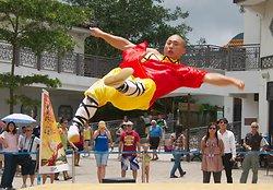 KM-382 Shaolin monks Kung Fu show at Po Lin Monastery