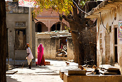 Street in Chatra Sagar village