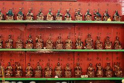 KM-219 God statues in Bark Sing Temple - Hollywood Road
