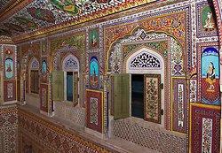 Samode Palace Hotel - Durbar hall decorations