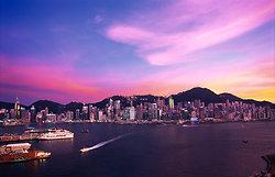 KMPAN-103 HONG KONG at sunset from West Kowloon Waterfront - 2007