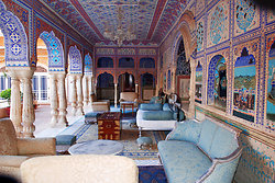 Samode Palace Rajasthan - outside sitting room