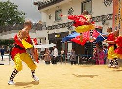 KM-385 Shaolin monks Kung Fu show at Po Lin Monastery