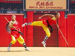 KM-386 Shaolin monks Kung Fu show at Po Lin Monastery