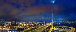 KMPAN-82 Stonecutters Bridge with moon at night